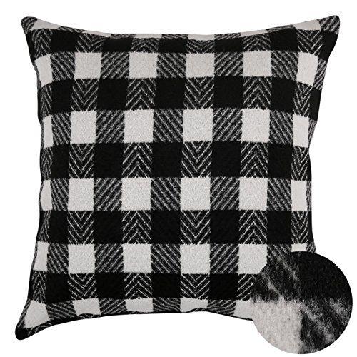 Best Deconovo Black And White Retro Checkered Plaid Throw 400 x 300