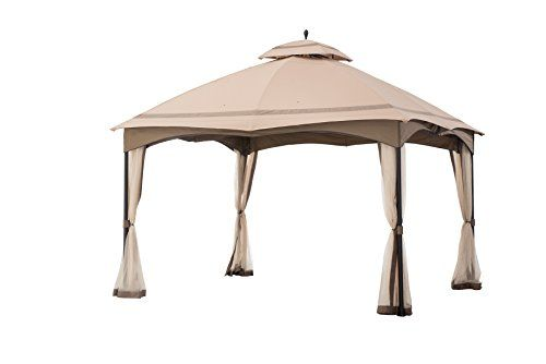 Canopies Gazebos And Pergolas Sunjoy Lgz933pst 12 X 10 Cabinstyle Soft Top Gazebo With Mosquito Netting Outdoor Patio Shades Patio Gazebo Portable Gazebo
