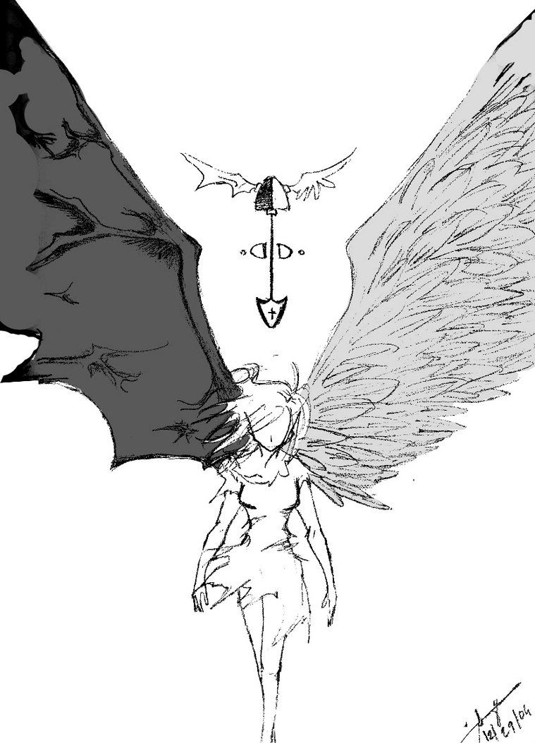 angels and demons battle drawings