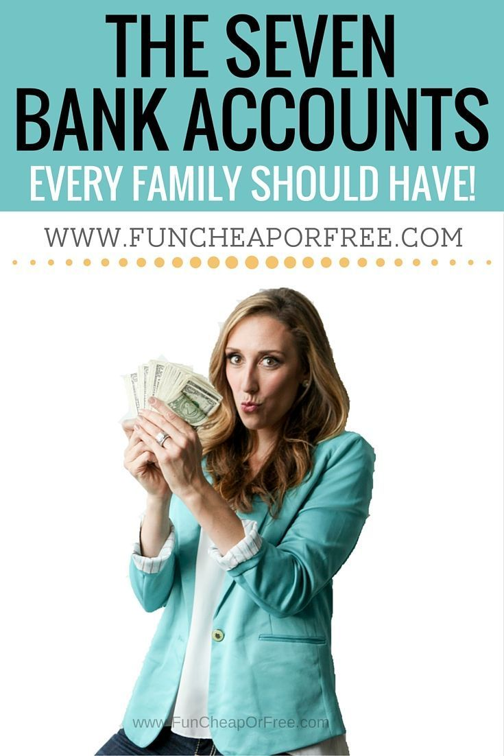 The 7 bank accounts every family should have to keep budgets and your finances in check! Don't be overwhelmed, and let things spiral... I can help! www.BudgetBootCamp.com #familybudget #personalfinance #howtobudget