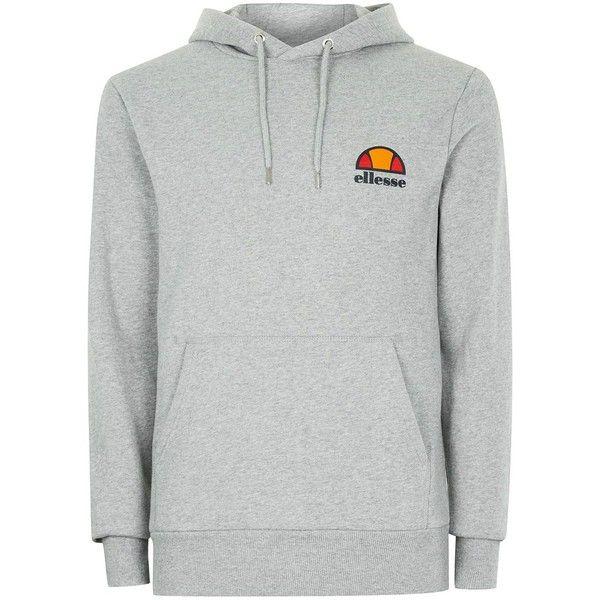 TOPMAN Ellesse Grey Logo Hoodie ($56) ❤ liked on Polyvore ...