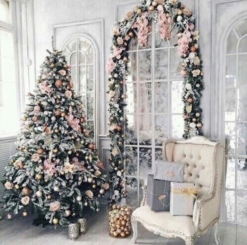 decorate with blue white and silver i think the hubs would have a bit of a fit if i started to decorate with amazing blush christmas decorations - Blush Christmas Decorations