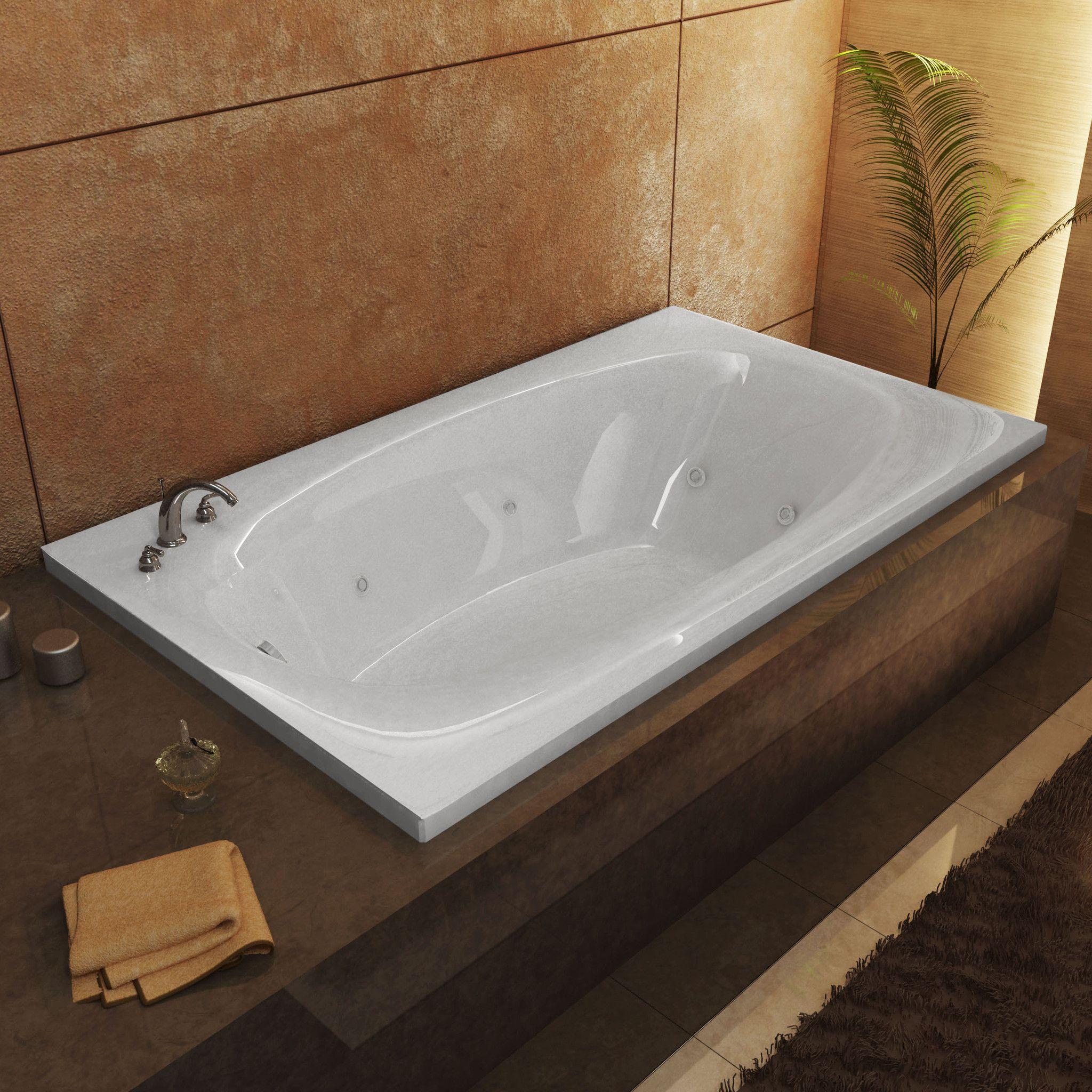 Superb Venzi VZ3666PWL Talia 36 X 66 Rectangular Whirlpool Jetted Bathtub With  Left Drain