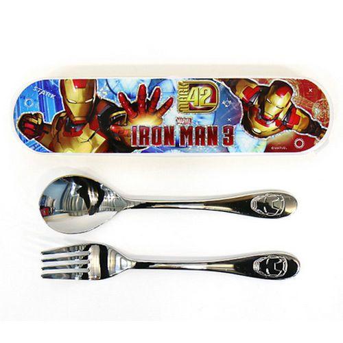 2dfd205209aa Marvel Ironman Spoon Fork Case Set Lunchbox School Boys Kids Child ...
