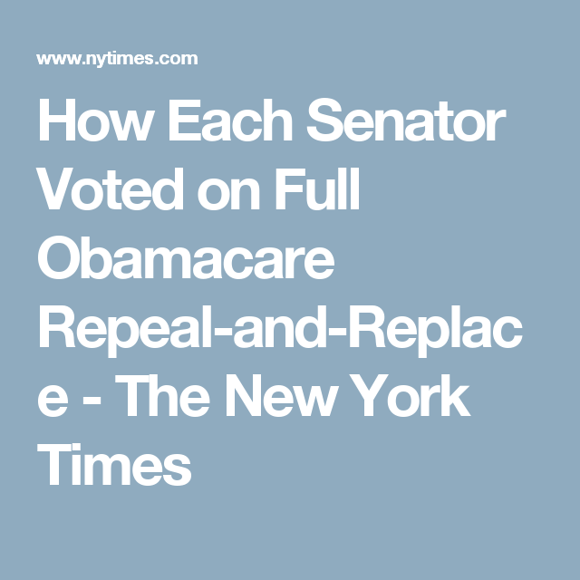 Failed Marriage Proposal Inside A Mall: How Each Senator Voted On Obamacare Repeal Proposals