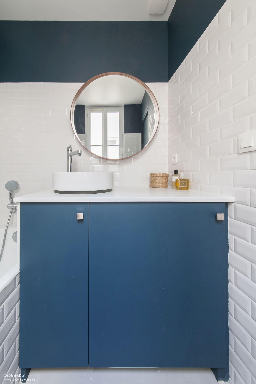 Rangement Salle De Bain Fait Maison ~ R Alisation R Alisation Meuble De Salle De Bain Carrelage Bleu