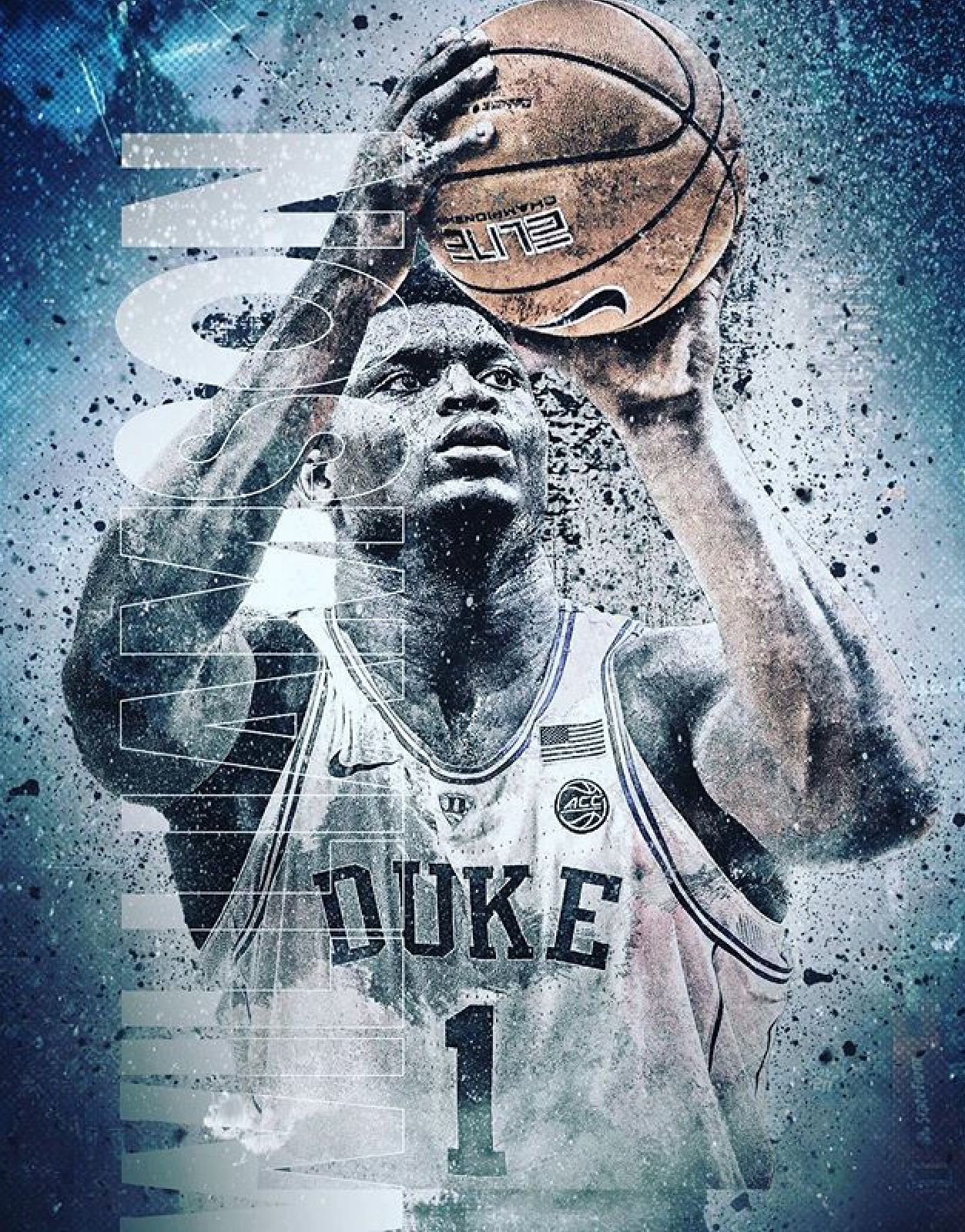 Zion Williamson Duke blue devils basketball, Nba