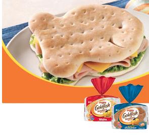 graphic regarding Goldfish Printable Coupons called Pepperidge Farm Goldfish Sandwich Bread Printable coupon