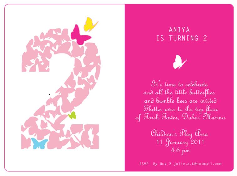 blank 2nd birthday invitation card template