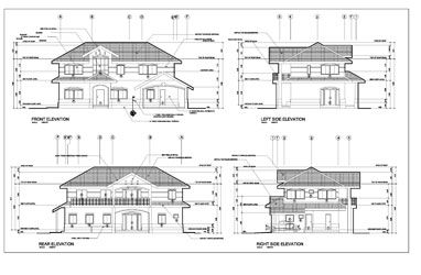 Architectural Elevation Samples Architectural Floor Plans Structural Drawing Autocad