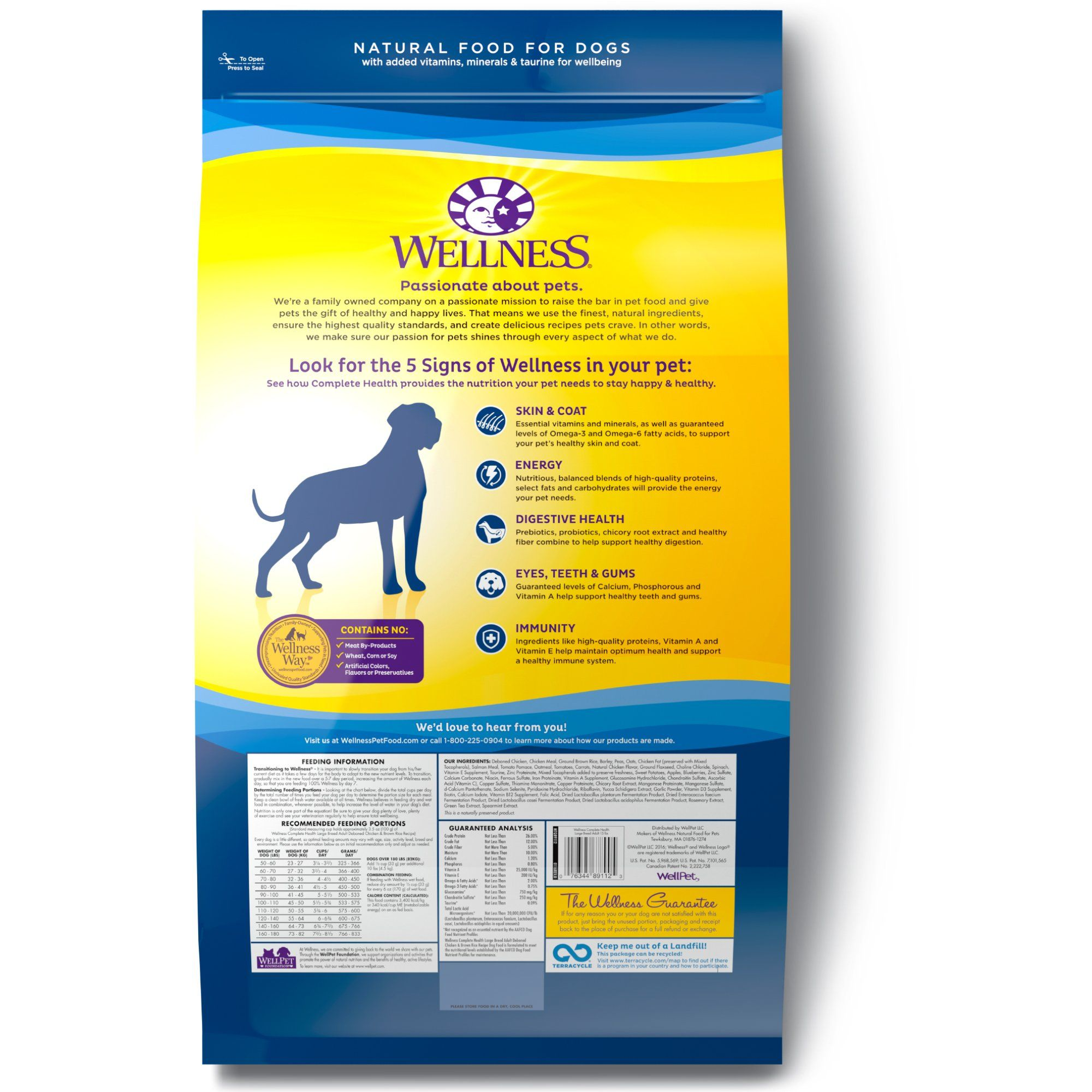 Wellness Complete Health Natural Dry Large Breed Dog Food Chicken Dogbedideas With Images Dog Food Recipes Large Breed Dog Food Dry Dog Food