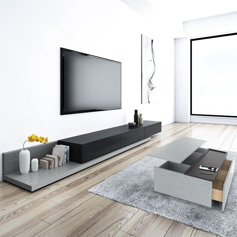 Modern Lift Top Wood Storage Coffee Table Gray And Black Rectangular Coffee Table With Drawers In 2020 Living Room Tv Stand Tv Stand Decor Living Room Home Room Design