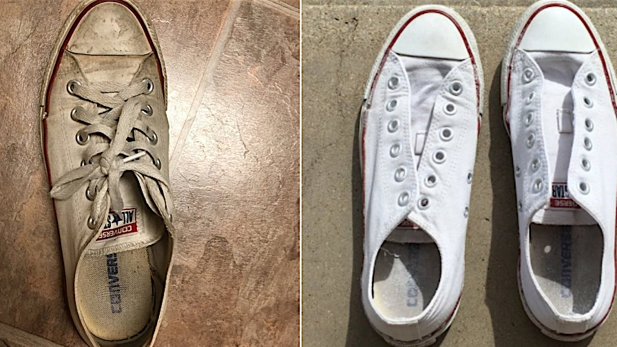 Twitter Is Freaking Out Over This Genius Sneaker Cleaning Trick How To Clean White Sneakers How To Clean White Shoes White Shoes