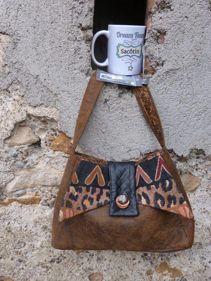 Sac Ava style ethnique cousu par Chantal New Style - patron couture Sacôtin