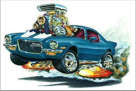 Madd Dogg's Muscle Car Art | Hood Stripe Color - Black ...