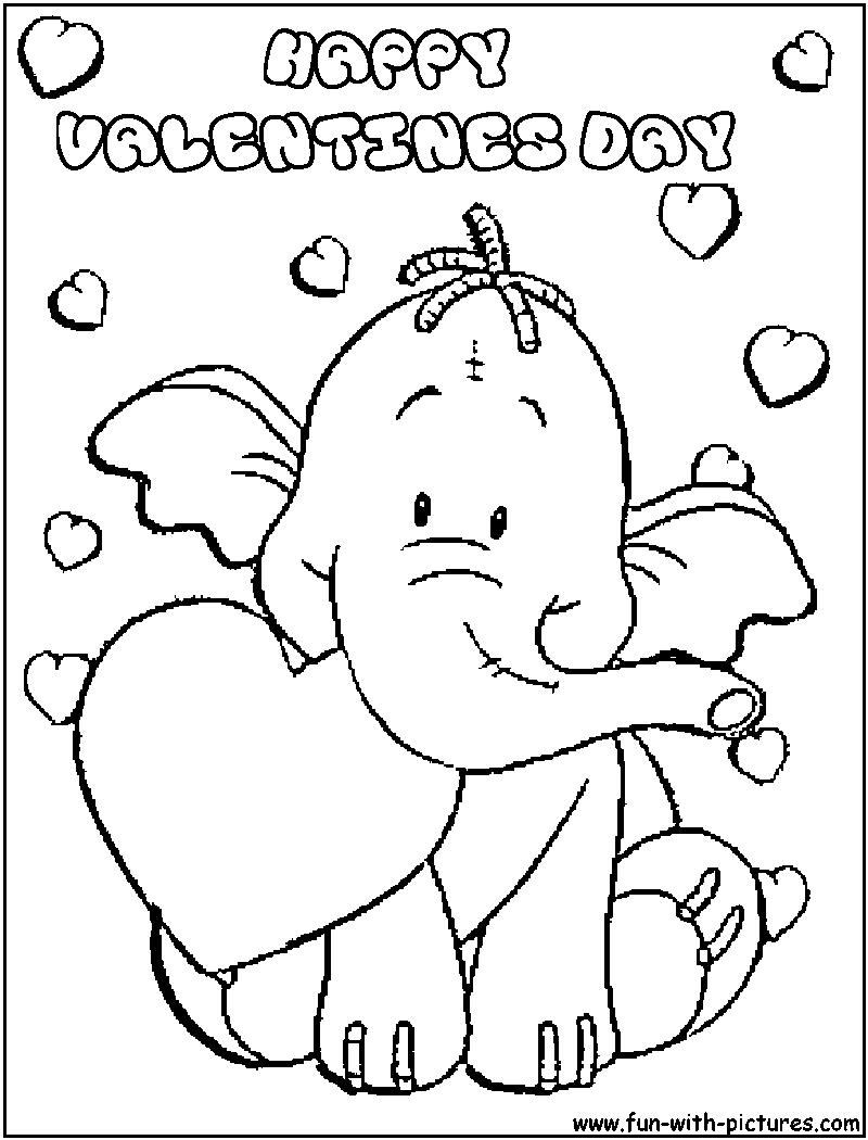 Valentines Day Coloring  Valentines day coloring page, Valentine