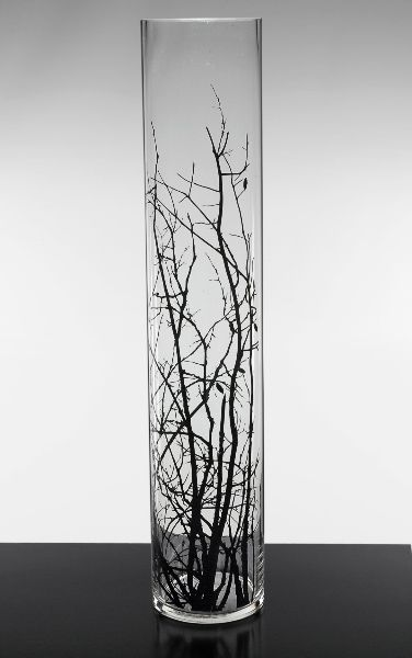 Craft Ideas With Tree Branches Tall Vases Birch Tree Branch Silhouette 6x30 Cylinder Vas Glass Cylinder Vases Vase With Branches