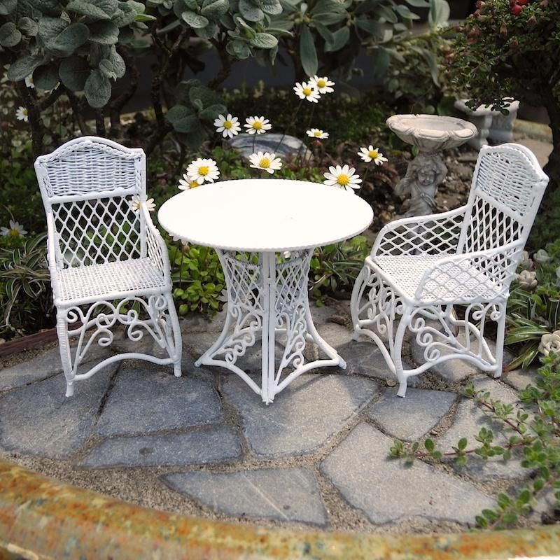 Miniature Garden Patio Furniture, Set of Three #\u201dpatiofurnituresets