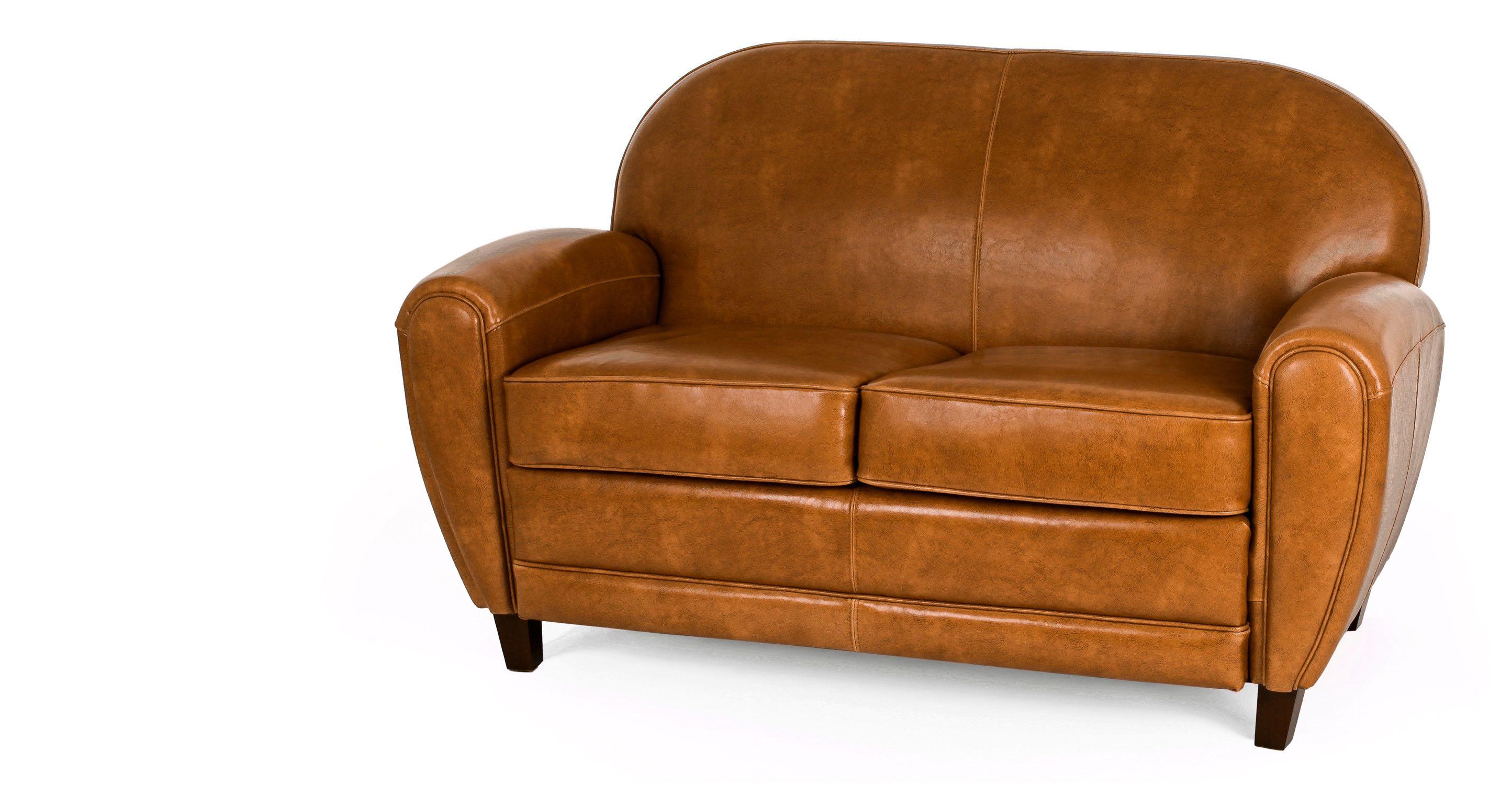 Wonderful Jazz Club 2 Seater Sofa, Cognac