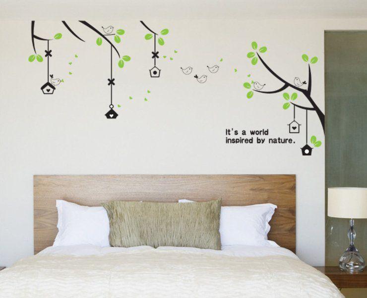 the birds' world wall sticker, korean style wallpaper for sitting