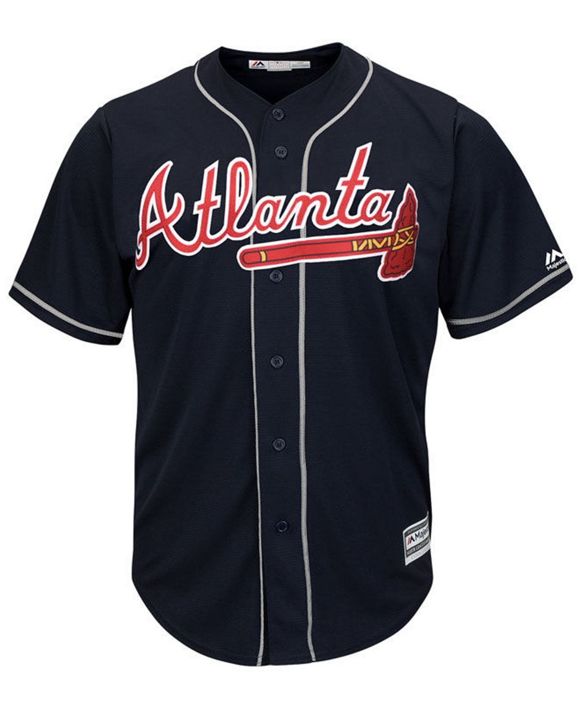 Majestic Men S Atlanta Braves Blank Replica Cool Base Jersey Navy Atlanta Braves Baby Clothes Shops