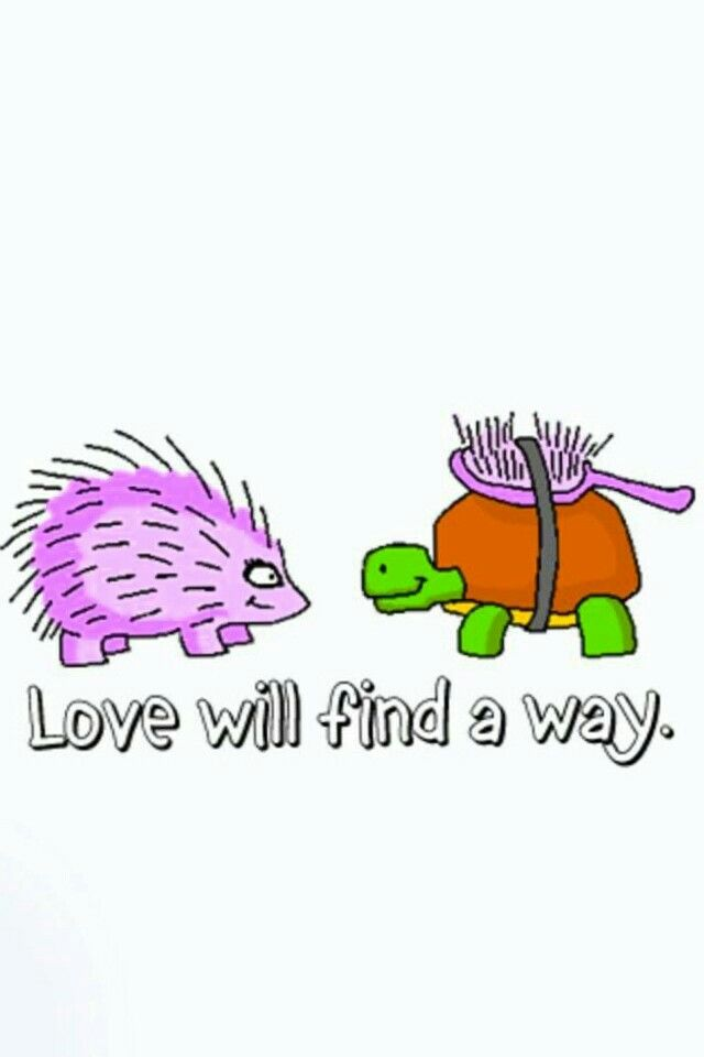 Love will find a way .. I love this cartoon !