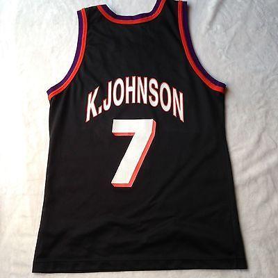 d9cee2ef0 Kevin Johnson Phoenix Suns Jersey 40 Champion Rare NBA Mens Jordan Barkley  Mint