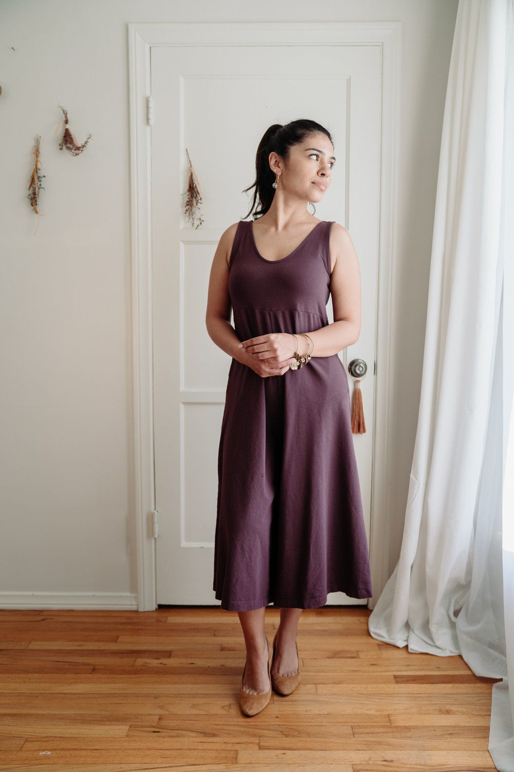 Lakeside Wide Leg Jumpsuit Dark Plum Wide Leg Jumpsuit Comfortable Jumpsuits Jumpsuit