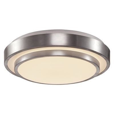 Lucid Lighting 12 59 In W Brushed Nickel Integrated Flush