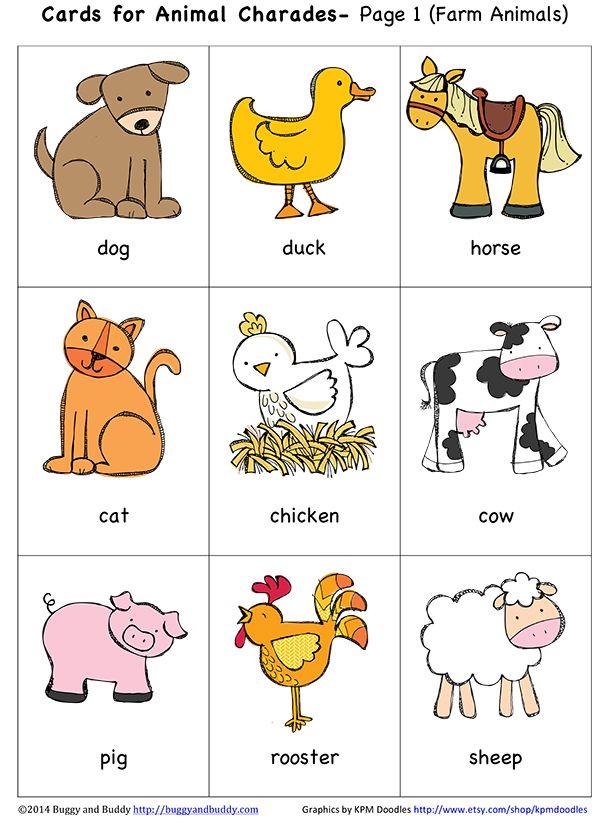 Gli ANIMALI FLASH CARDS SET-didattiche PICTURE /& parola divertente card pack