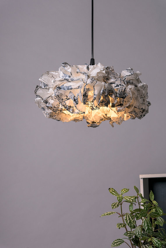 White And Grey Hanging Lamp Living Room Pendant Lamp Bedroom