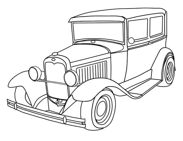 Beautiful Classic Old Car For Collector Coloring Page Coloring Sky Cars Coloring Pages Truck Coloring Pages Coloring Pages For Kids