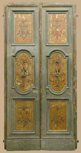 Questa una porta antica laccata presa dal nostro for Porte decorate antiche