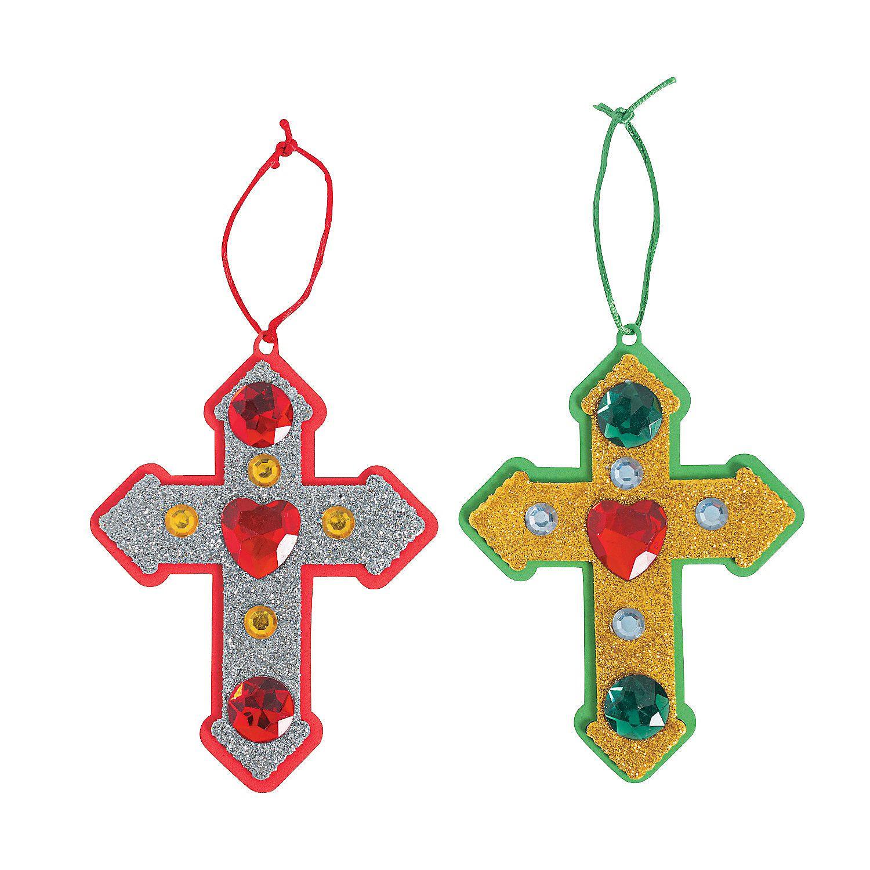 Christmas ornament craft kit - Cross Christmas Ornament Craft Kit Ornament Crafts Crafts For Kids Craft Hobby