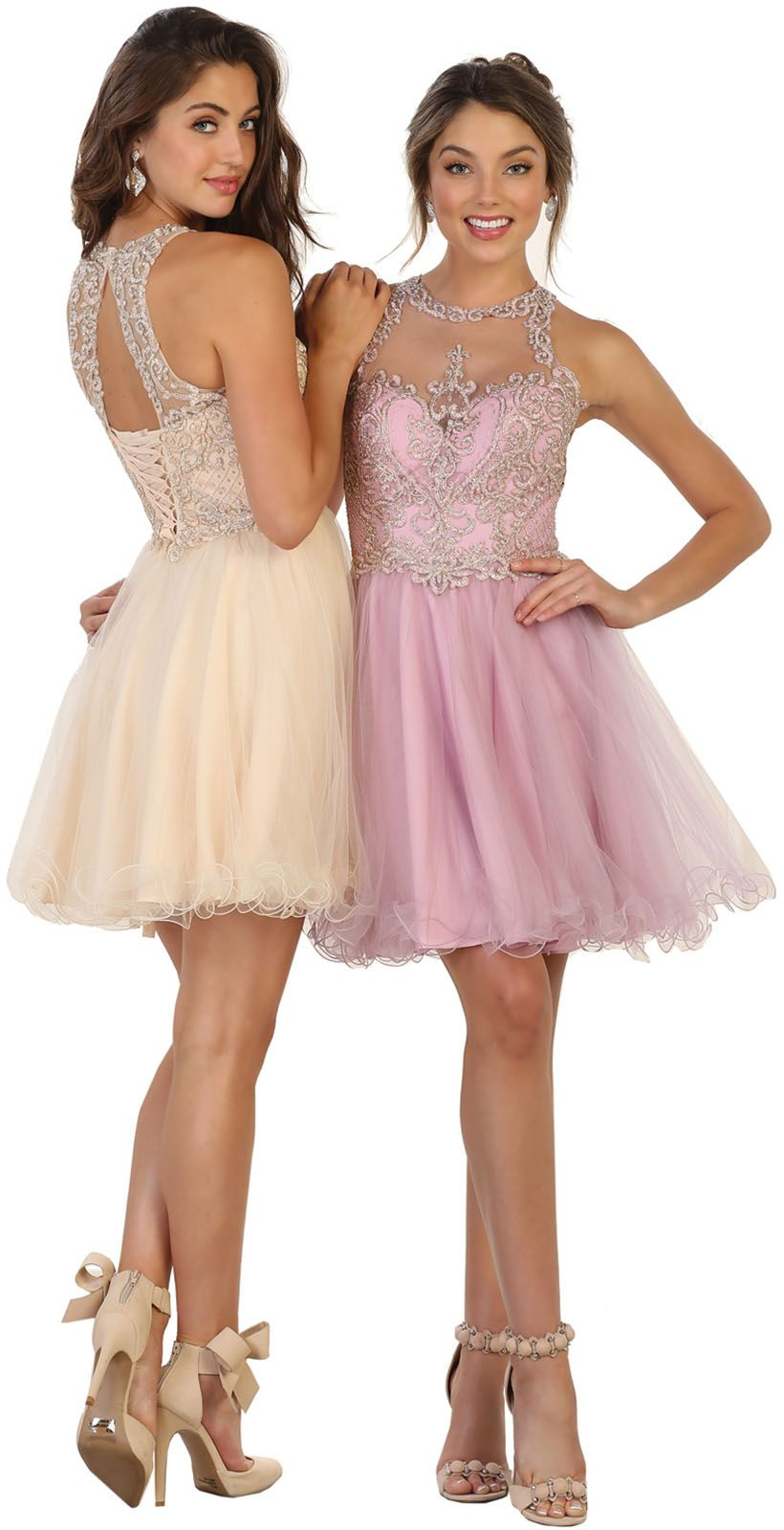 May Queen Semi Formal Lace Up Short Wedding Guest Dress Walmart Com Short Wedding Guest Dresses Sleeveless Bridesmaid Dresses Guest Dresses [ 1600 x 820 Pixel ]