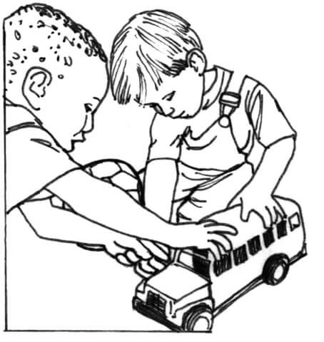 Kid Playing Coloring Page Free Coloring Pages Goruntuler Ile