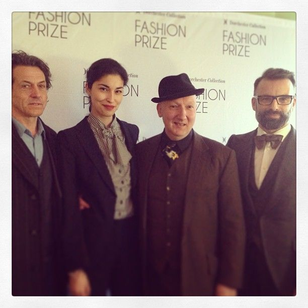 Our UK #DCFashionPrize judges for 2013: Stephen Webster, Caroline Issa, Stephen Jones and Nicholas Oakwell.