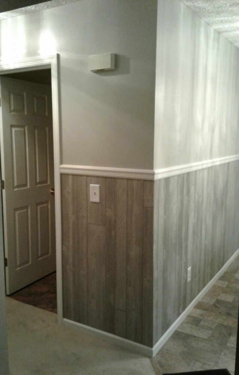 Wood Panel For Half Wall Wall Paneling Makeover Paneling