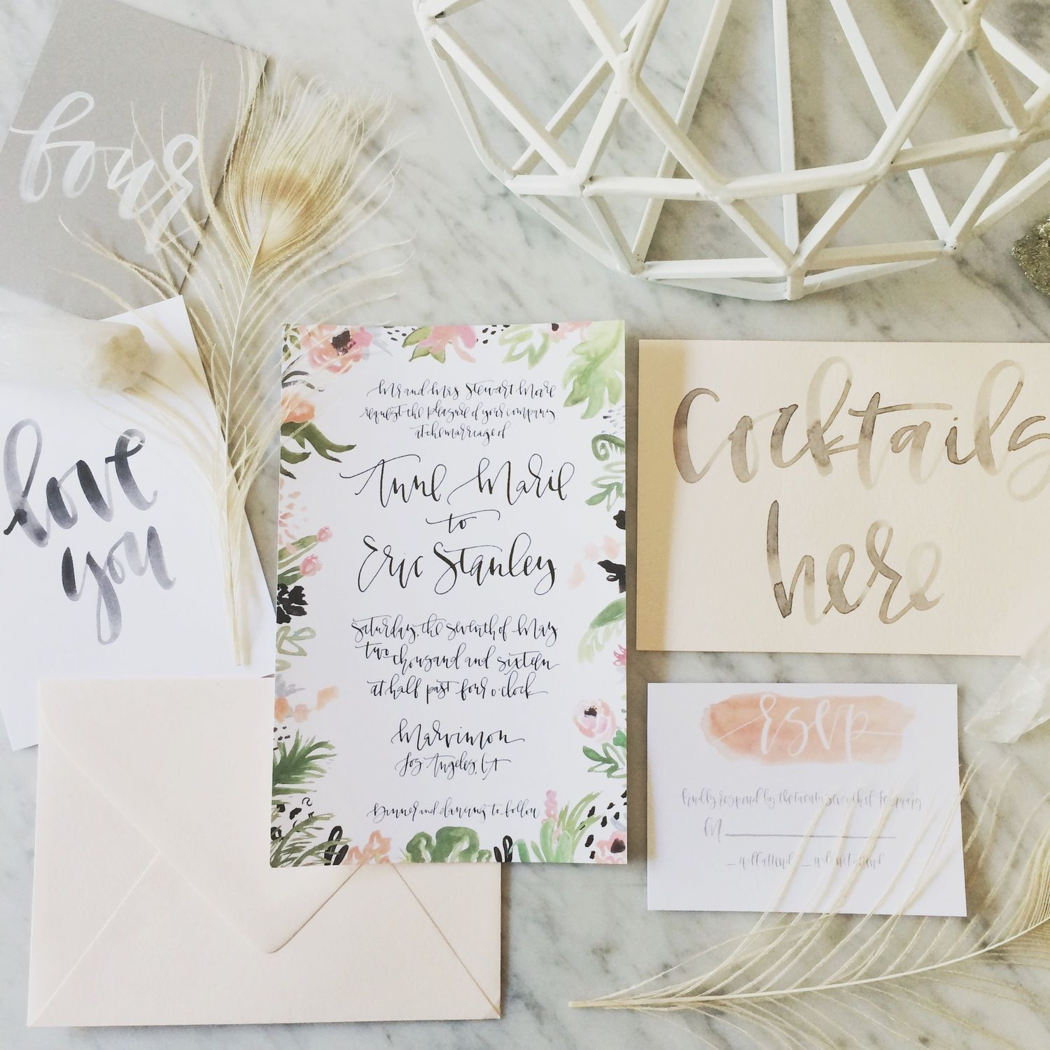 botanical border suite | Wedding Invites- Calligraphy | Pinterest ...