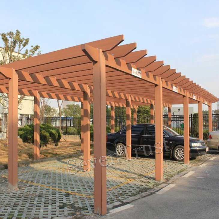 Pergola Designs New Zealand: Non-fading Wood Plastic Materials Pergola Supplier