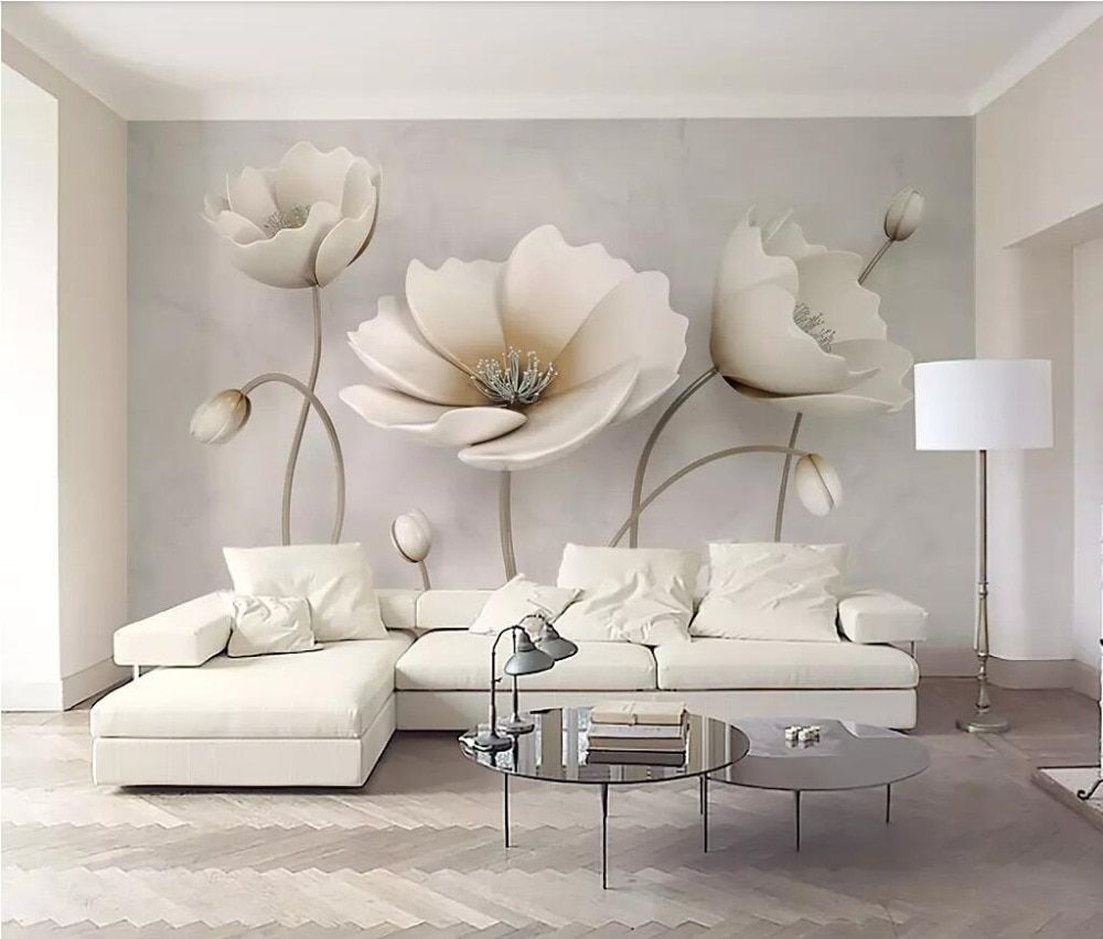 Beibehang Custom 3d Mural Wallpaper Photo Wall Paper 3d Flower Marble Landscape Living Room Modern Decoration Home Flooring Roll In 2020 Living Room Wall Flower Mural Living Room Modern
