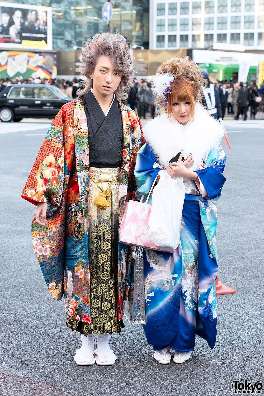 """125 pictures of beautiful furisode kimono on the street"" -Tokyo Fashion"