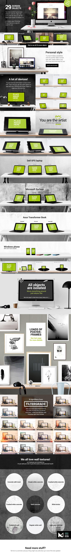 Mockup Scene Creator - Desk edition - Product Mockups - Use it for your Etsy presentation, Header images, Product mockups, Poster frame presentations, Environment designs, Website previews, etc.