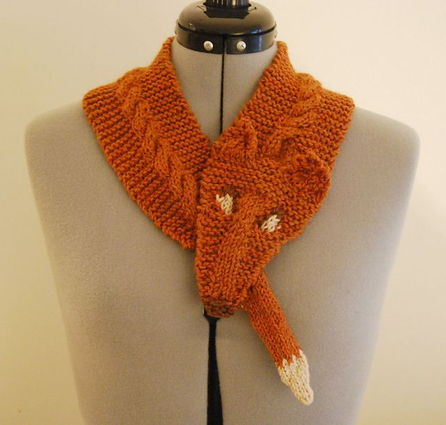 Ravelry Fox Scarf Pattern By Silvermoon Creations Knitting