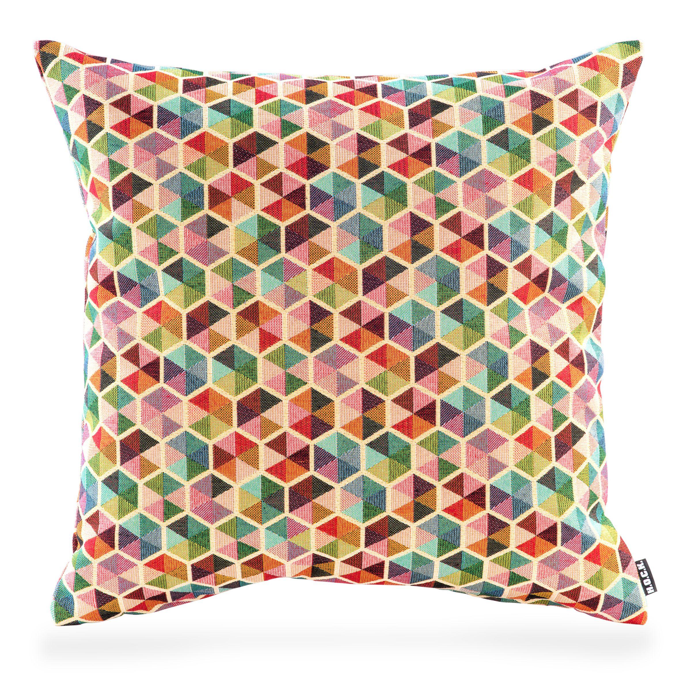 Akasma Kissen 50x50cm Multicolour Bunt Pillow Kissen Textilien