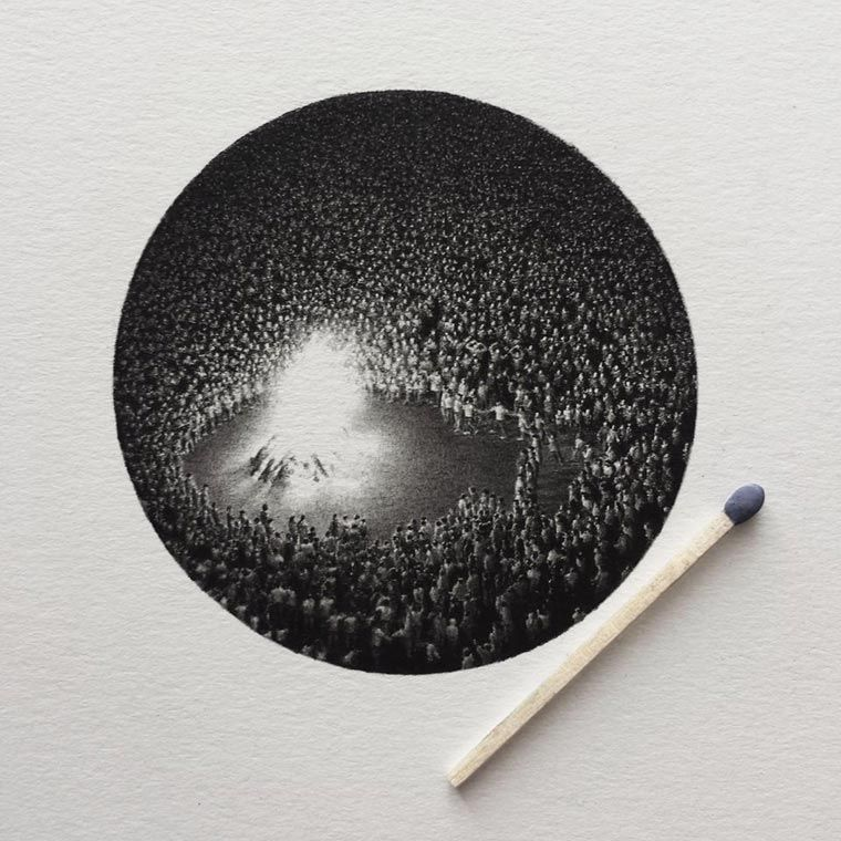 Micro Barroque – Les superbes illustrations miniatures de Mateo Pizarro