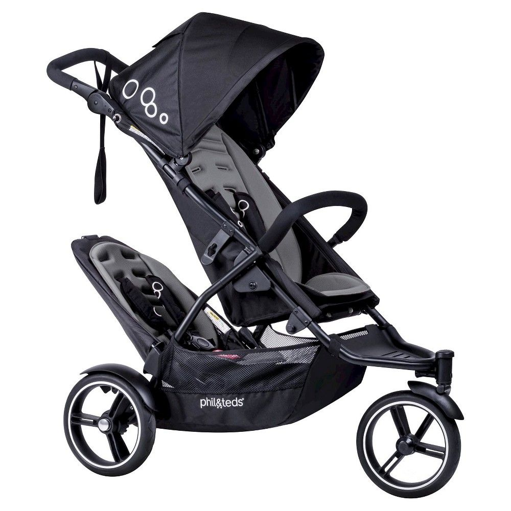 phil&teds Dot Stroller with Second Seat Graphite (Grey
