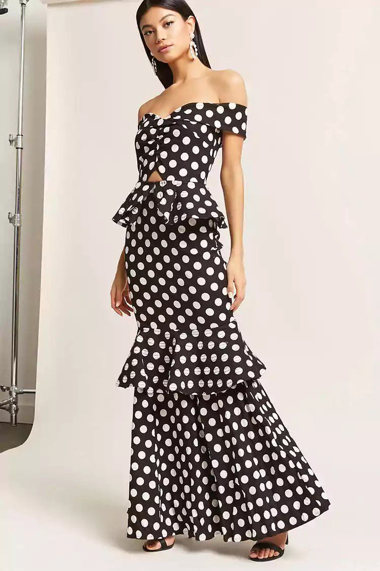 5bb39cff4dd Product Name Polka Dot Tiered Maxi Dress