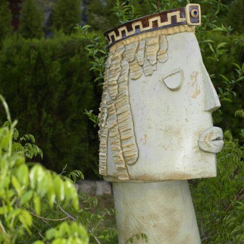 Władca Rzeźba Ogrodowa Joanna Lewandowska Ceramika Rzeżba