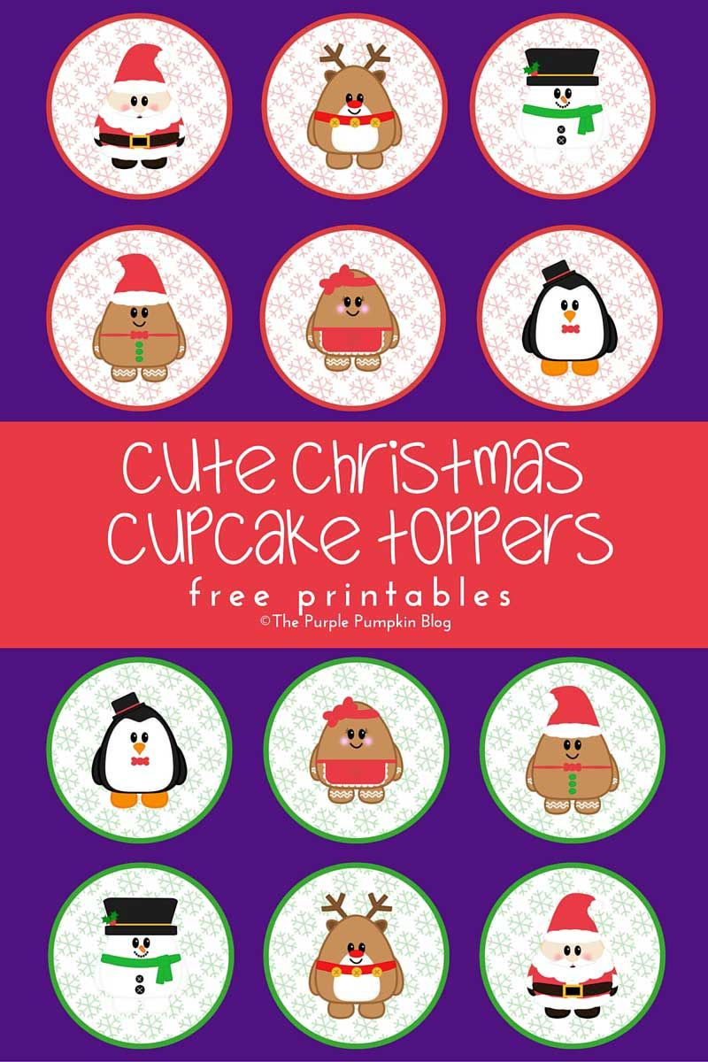 Christmas Cupcake Toppers Free Printable.Cute Christmas Cupcake Toppers Free Printables Christmas